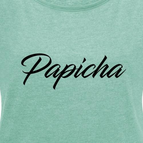Papicha - T-shirt à manches retroussées Femme