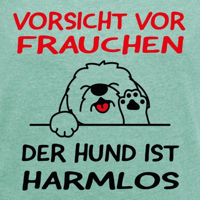 Vorsicht vor Frauchen - Hund ist harmlos