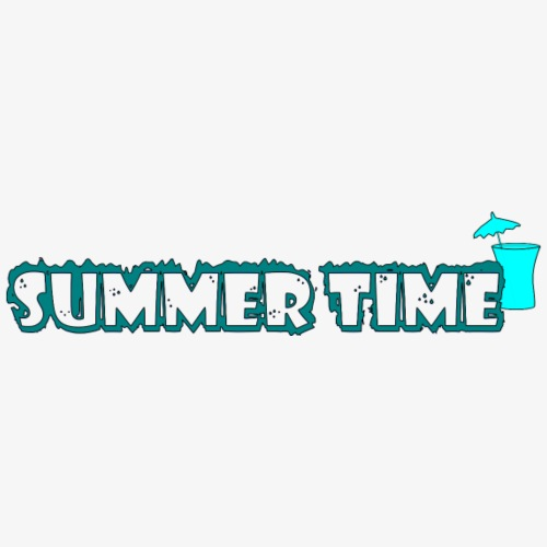 Summer Time / Sommerzeit - Frauen T-Shirt mit gerollten Ärmeln