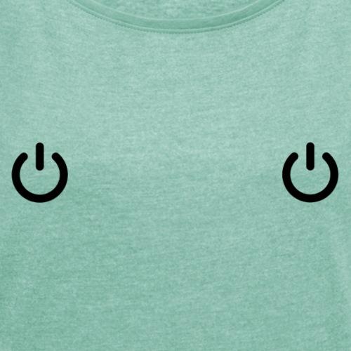 Power - T-shirt à manches retroussées Femme