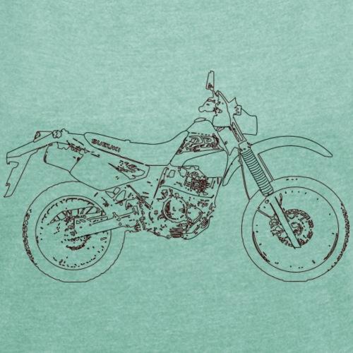 DR350 - Frauen T-Shirt mit gerollten Ärmeln