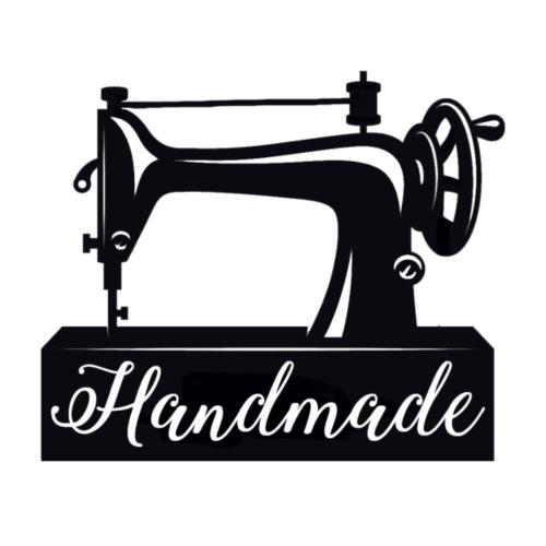 vintage sewing machine handmade - Vrouwen T-shirt met opgerolde mouwen