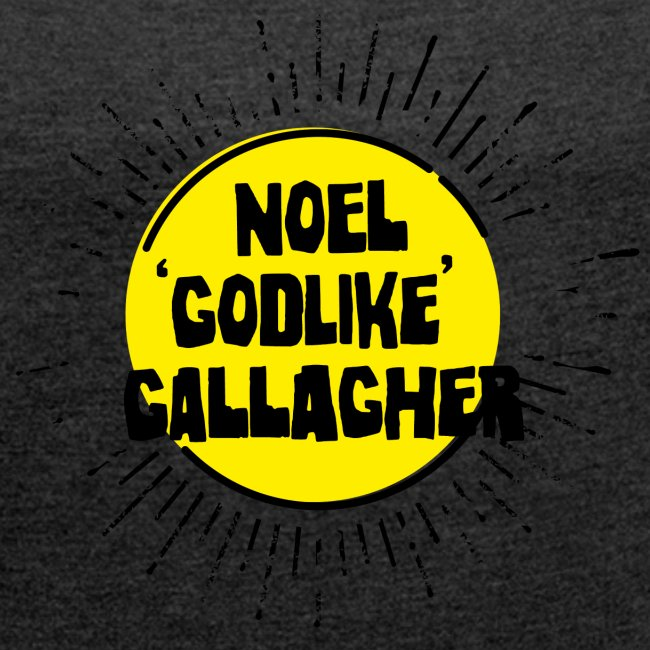 Noel Gallagher 'Godlike' - Black on Yellow
