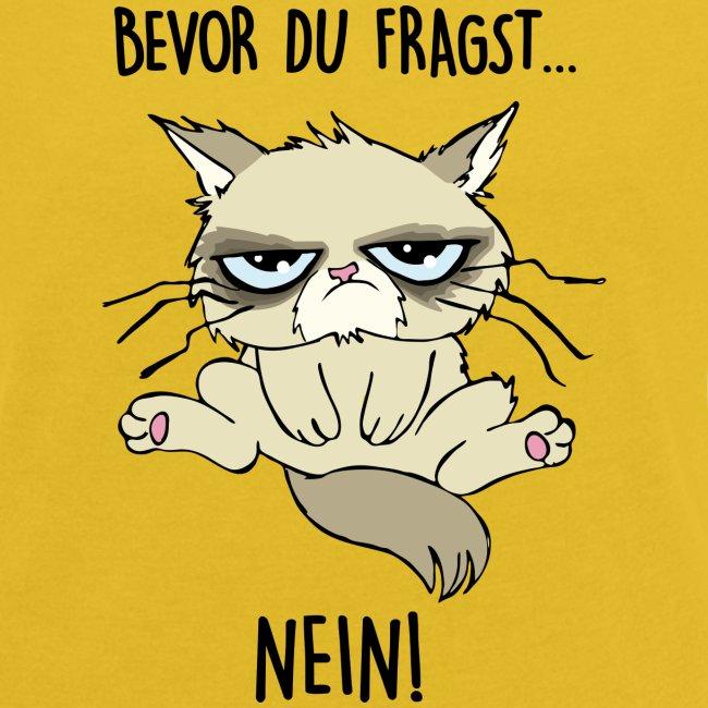 Vorschau: Bevor du fragst... NEIN - Frauen T-Shirt mit gerollten Ärmeln