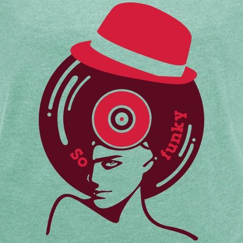 So funky borsalino vinyl - T-shirt à manches retroussées Femme