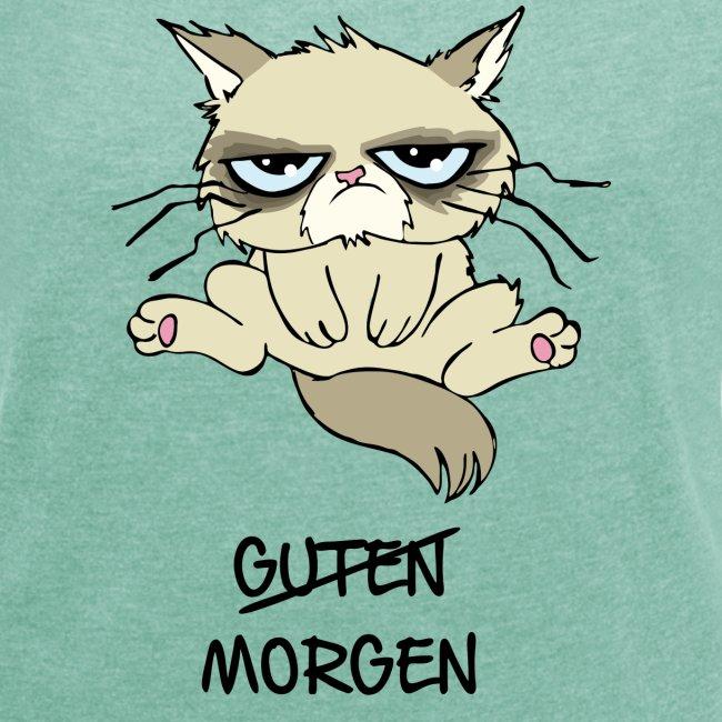 Vorschau: guten morgen - Frauen T-Shirt mit gerollten Ärmeln