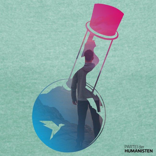 Flaschenpost: Er hört auf die Wissenschaft!