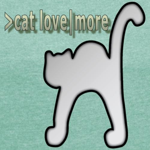 Katzenbuckel, Katze, Liebe - Frauen T-Shirt mit gerollten Ärmeln