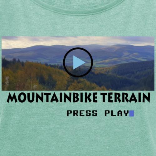 Mountainbike terrain pressplay - Dame T-shirt med rulleærmer