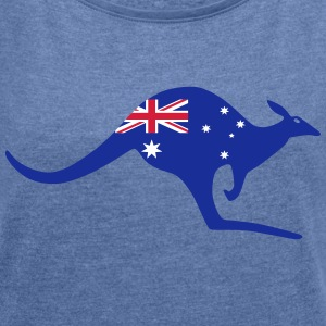 Australia kangaroo - Women's T-shirt with rolled up sleeves