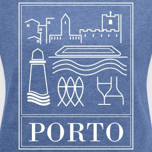 Porto collection - Women's T-shirt with rolled up sleeves