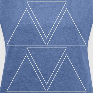 Triangular pattern - Women's T-shirt with rolled up sleeves