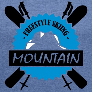 FREESTYLE SKIING - Women's T-shirt with rolled up sleeves