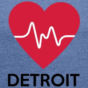 Heart Detroit - Women's T-shirt with rolled up sleeves