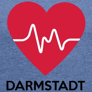 heart Darmstadt - Women's T-shirt with rolled up sleeves