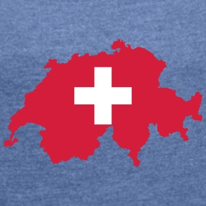 Switzerland - Women's T-shirt with rolled up sleeves