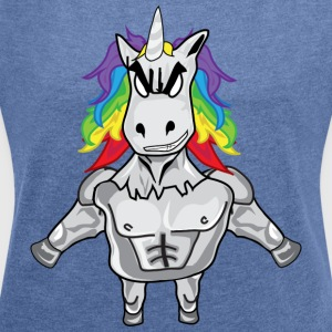 BAD UNICORN COLLECTION - Women's T-shirt with rolled up sleeves