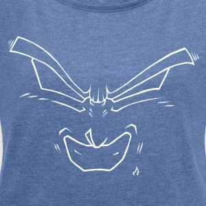 Smile - Women's T-shirt with rolled up sleeves