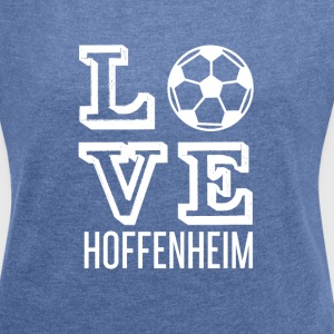 LOVE HOPE HOME - T-shirt med upprullade ärmar dam