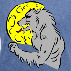 werewolf - Women's T-shirt with rolled up sleeves