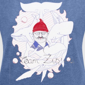 steeve zissou - Women's T-shirt with rolled up sleeves