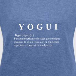 Yogi white shirt - Women's T-shirt with rolled up sleeves