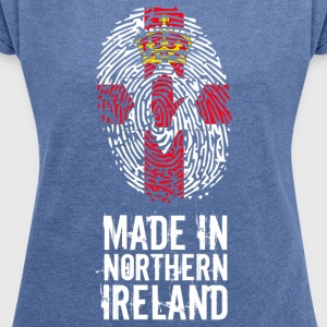 Made In Northern Ireland / Irlande du Nord - T-shirt Femme à manches retroussées