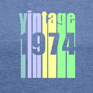 Vintage 1974 - Women's T-shirt with rolled up sleeves