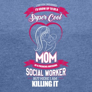 MOM - Women's T-shirt with rolled up sleeves