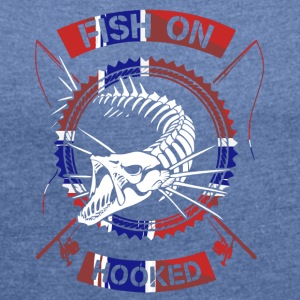 fish on norway - Women's T-shirt with rolled up sleeves