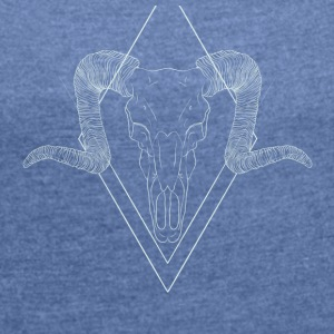 Bones. - Women's T-shirt with rolled up sleeves