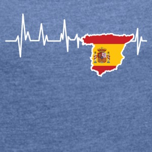 Heartbeat Spain - Women's T-shirt with rolled up sleeves