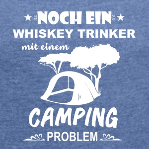 Camping Camper drinkers - Women's T-shirt with rolled up sleeves