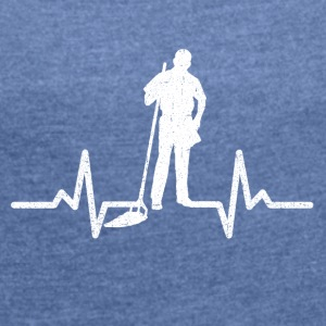 My heart beats for the nursery - Women's T-shirt with rolled up sleeves