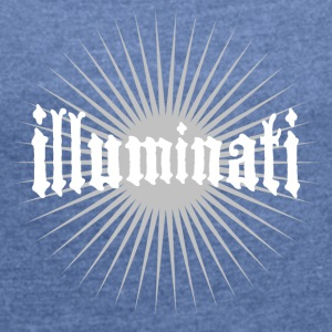 illuminati star fun writing secret swag rays 1 - Women's T-shirt with rolled up sleeves