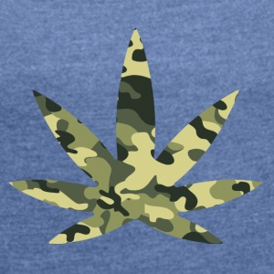 420 Camouflage - Women's T-shirt with rolled up sleeves
