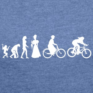 Women's Biking Cycling Evolution - Women's T-shirt with rolled up sleeves