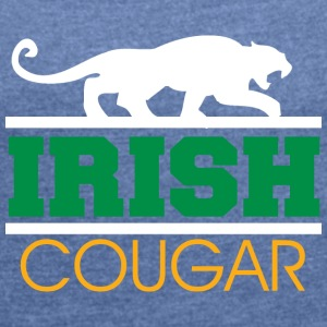Irish Cougar Women's - Women's T-shirt with rolled up sleeves