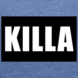 KILLA brand - Women's T-shirt with rolled up sleeves