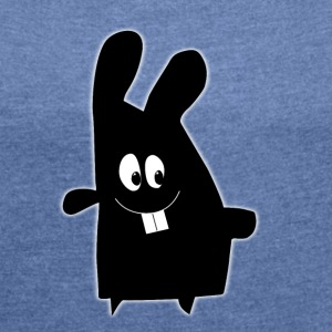 Enillo Rabbit Figure - Women's T-shirt with rolled up sleeves
