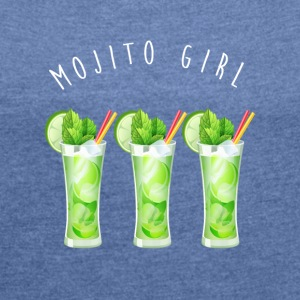 mojito girl - Women's T-shirt with rolled up sleeves