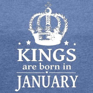 January King - Women's T-shirt with rolled up sleeves