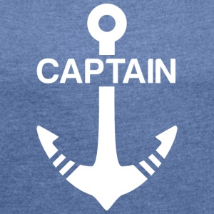 Captain white - Women's T-shirt with rolled up sleeves