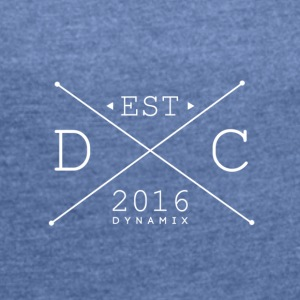 Dynamix_Clothing_Logo_White_-_600_dpi - Women's T-shirt with rolled up sleeves