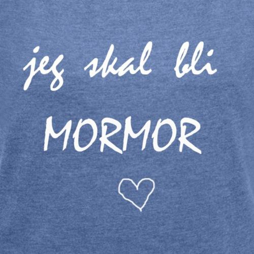 Mormor Collection - T-skjorte med rulleermer for kvinner