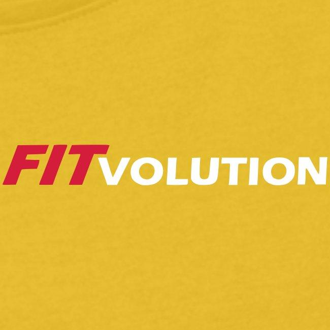 Kleines, weißes Fitvolution-Logo