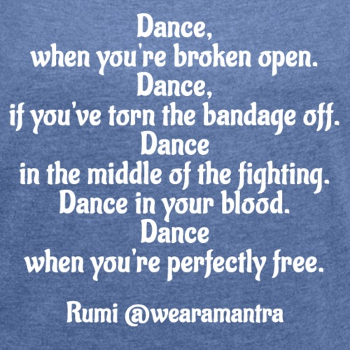 Rumi Dance - Maglietta da donna con risvolti