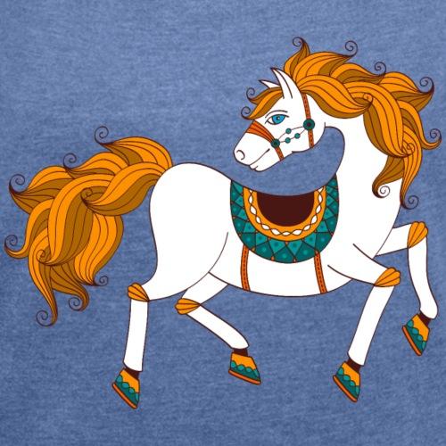 Cheval Blanc - T-shirt à manches retroussées Femme