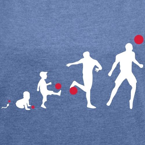 Football Evolution - T-shirt à manches retroussées Femme