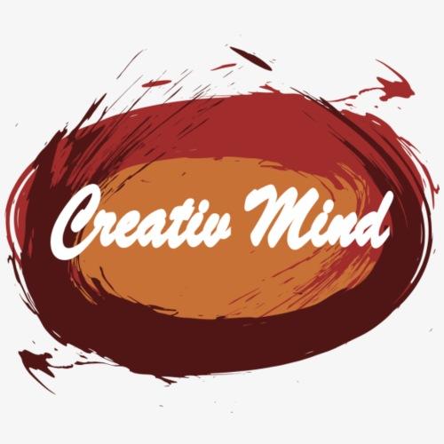 Creativ Mind / Kreativer Geist - Frauen T-Shirt mit gerollten Ärmeln